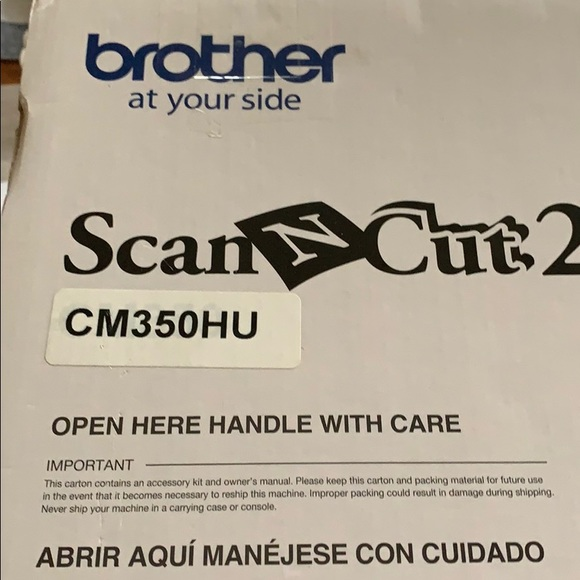 Brother scan n cut cm350hu with cutting mat